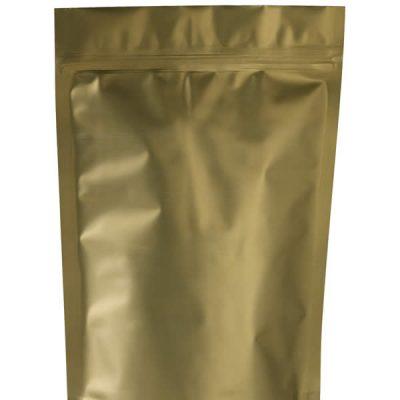 Matte gold w/zipper